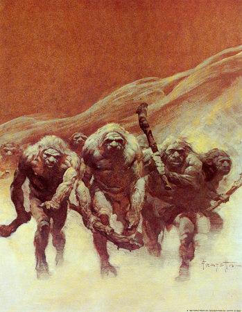 l'image de l'homme préhistorique - Page 5 Neandertaliens_Frazetta
